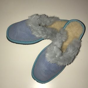 Other - Blue sheepskin slippers for kids. Various sizes
